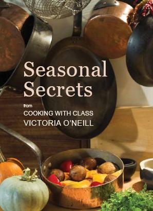 front cover of Seasonal Secrets cookery book